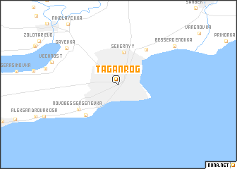 Taganrog (Russia) map   nona.net