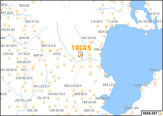 map of Tagas