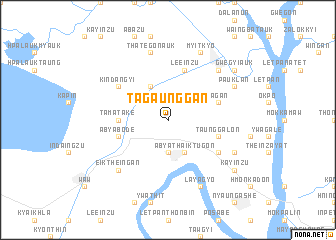 map of Tagaunggan