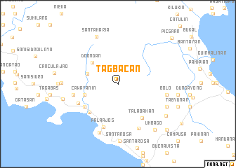 map of Tagbacan