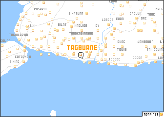 map of Tagbuane