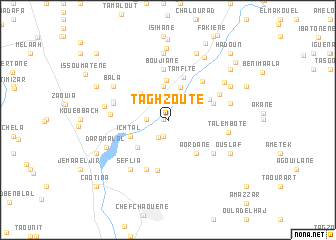 map of Taghzoute