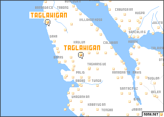 map of Taglawigan