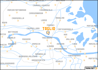 map of Taglio