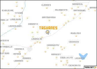 map of Taguanes