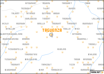map of Taguenza