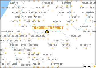 map of Tahanout Mefort