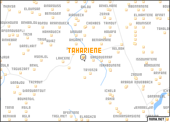 map of Tahariene