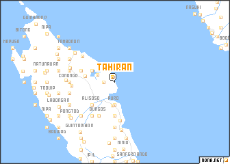 map of Tahiran