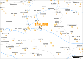 map of Tahlāva