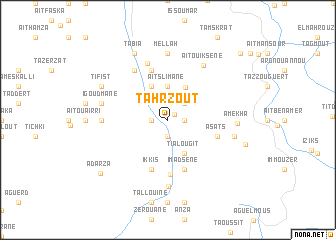 map of Tahrzout