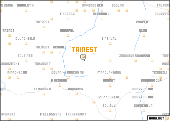map of Taïnest