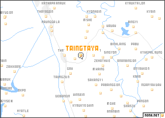 map of Taingtaya