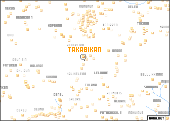 map of Takabikan