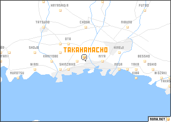 map of Takahamachō
