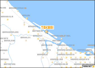 map of Tak Bai