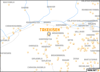 map of Tak-e Kīseh