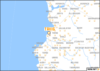 map of Takig