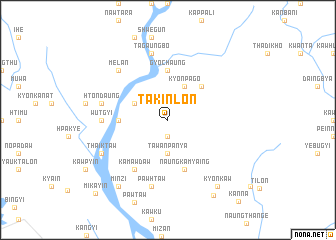 map of Takinlon