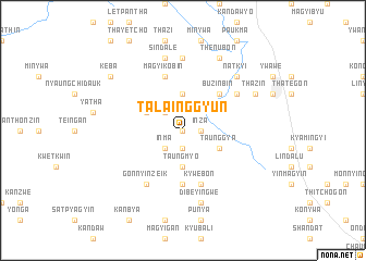 map of Talainggyun