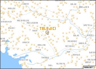 map of Talajići