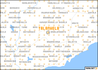 map of Talanwela