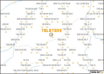 map of Talatane