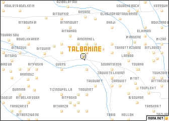 map of Talbamine