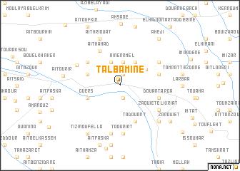 map of Talbamine