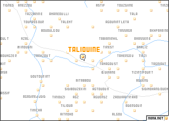 map of Taliouine