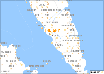 map of Talisay