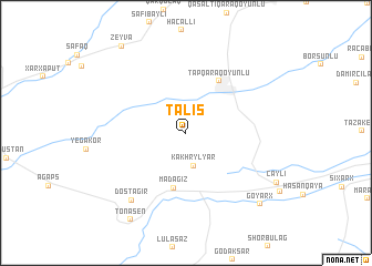 map of Talış