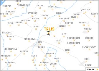 map of Talış