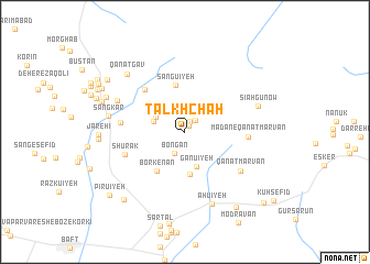 map of Talkh Chāh