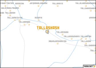 map of Tall Ashāsh