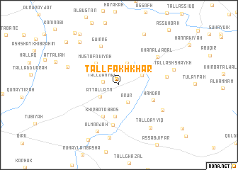 map of Tall Fakhkhār