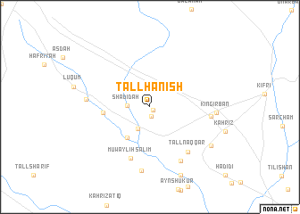 map of Tall Ḩanish