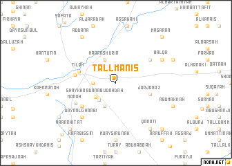 map of Tall Manīs