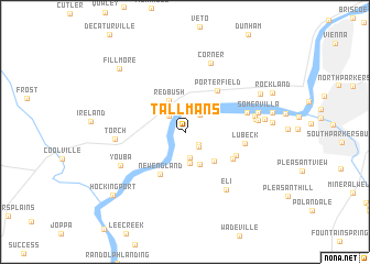 map of Tallmans