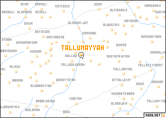 map of Tall Umayyah