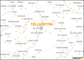 map of Tall Umayyah