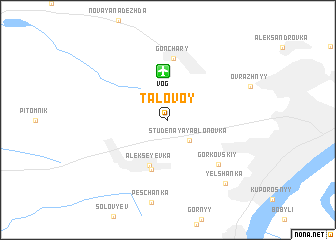 map of Talovoy