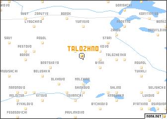 map of Talozhno