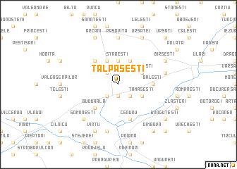 map of Tălpăşeşti