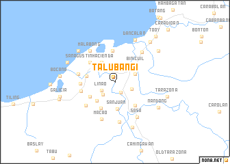 map of Talubangi