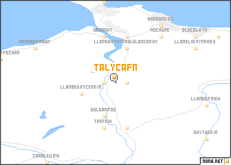 map of Tal-y-Cafn
