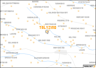 map of Talyzino