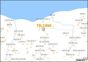 map of Talzada