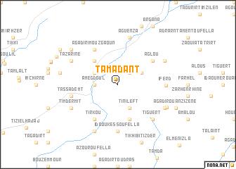 map of Tamadant