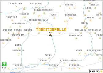 map of Tamaït Ou Fella